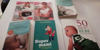 lote de libros embarazo, maternidad y bebés