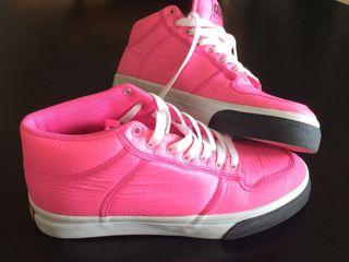 Alife NY zapatilla mid rosa fluor