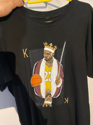 Camiseta negra Lebron James Lakers
