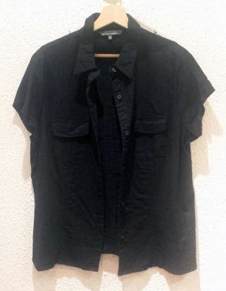 Camisa Negra sin Mangas Mujer (18 de Octubre)