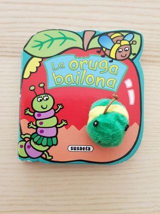 Libro La oruga bailona Colección Bichomarionetas
