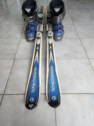 esquís más botas