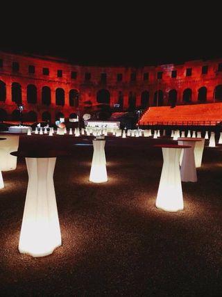 Muebles led para eventos
