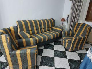 sofá cama con co junto sillones
