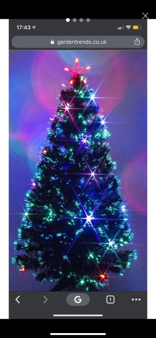 Christmas fibre optic black tree