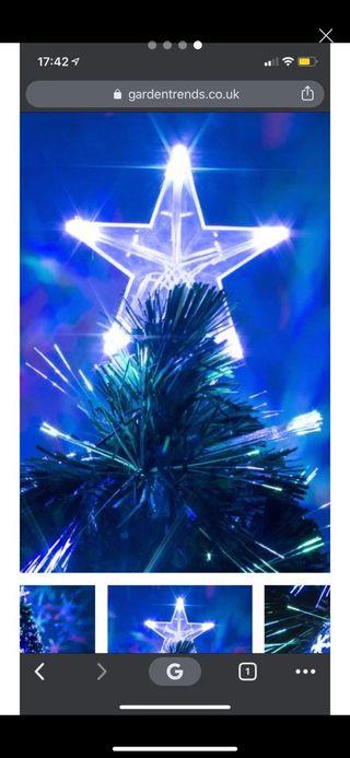 Christmas fibre optic black tree