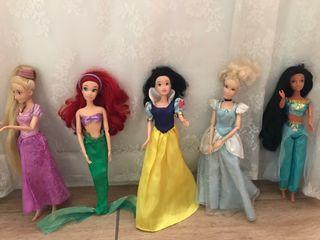 Colección cinco muñecas princesas Disney