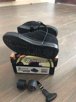Heelys zapatos con 1 rueda niñ@s talle 32.