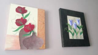 dos cuadros en relieve