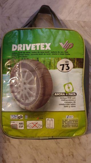 CADENAS DE NIEVE TEXTILES PARA COCHE DRIVETEX