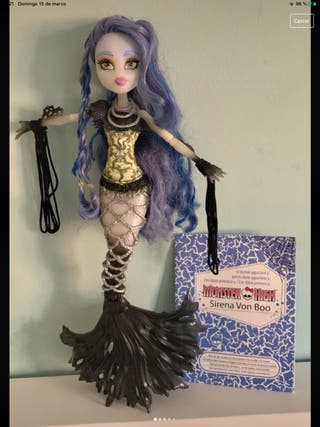 Muñeca sirena von boo Monster High