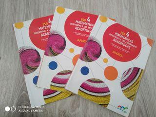 Libros de matemáticas 4 ESO.