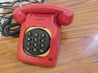 Teléfono rojo vintage
