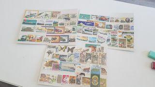 sellos postales transporte y animales