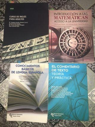 Libros Curso de Acceso a la Universidad- UNED