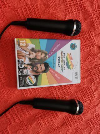 Juego Wii 40 principales karaoke party Vol2. micro