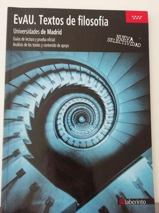 Libro textos Filosofía Evau Madrid