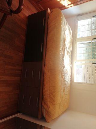 mueble con cajones para cama individual
