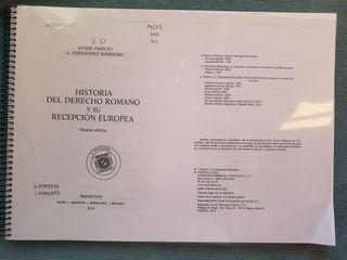 Historia del Derecho Romano y recepción europea
