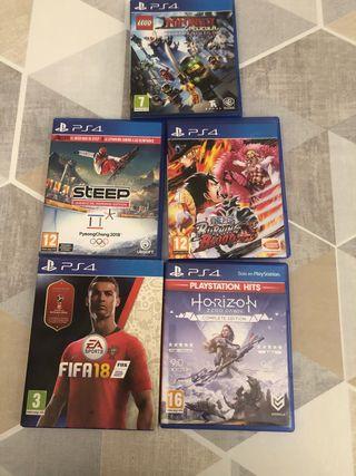 Juegos PS4 lote