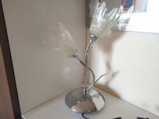 Lampara de mesa acero cromo