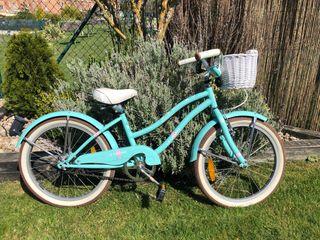 Bicicleta niña vintage 20 pulgadas con timbre