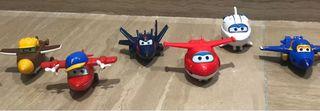Súper wings pack de 6 aviones pequeños