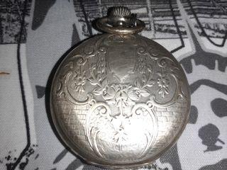 Antiguo reloj de bolsillo Longines plata