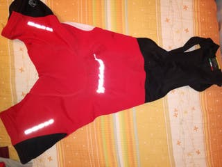 maillot, coulot y guantes de spinning y ciclismo