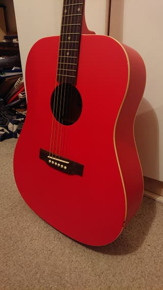 Eastcoast SA30D Acoustic Guitar in red