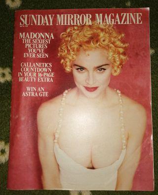 Madonna revista Sunday mirror mayo 1990