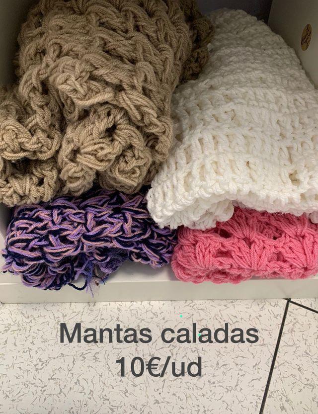 Mantas caladas lana