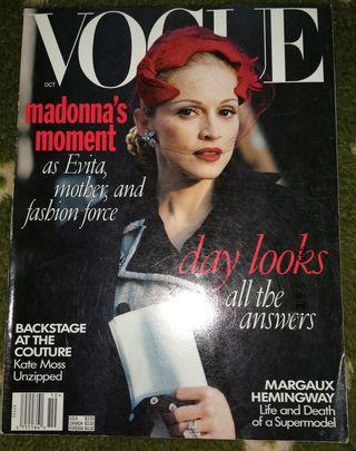 Madonna revista Vogue USA Americana octubre 1996
