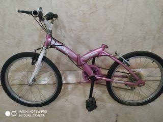 bicicleta plegable de niña oh niño