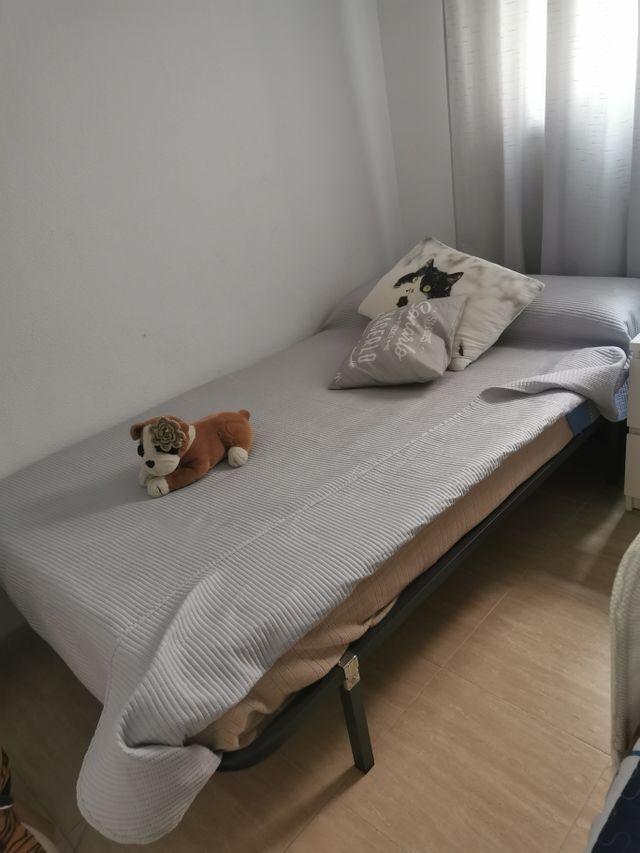 cama con con colchon