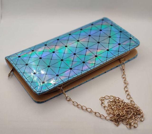 Portefeuille femme bleu lumineuse