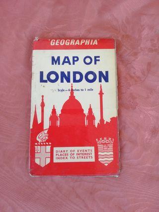 Map of London. Mapa de Londres
