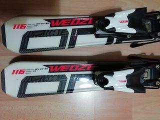 esquís niño 116 cm marca decathlon