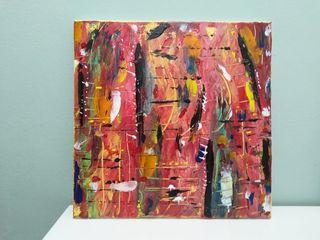 cuadro abstracto en acrilico