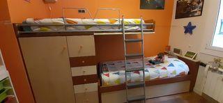 Litera infantil con cama nido