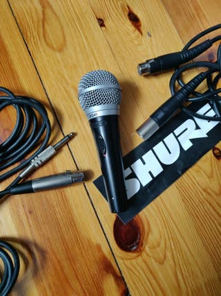 Micrófono Shure PG48 + 2 cableados
