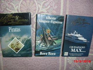 3 LIBROS:ALBERTO VAZQUEZ FIGUEROA X 2€ TODOS