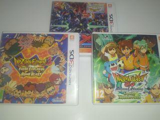 Lote de juegos Nintendo 3ds Inazuma eleven go