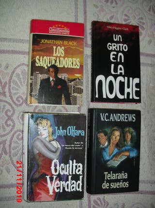 4 LIBROS X 3€ TODOS, UN GRITO EN LA NOCHE....