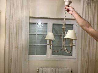 Lámpara forja beig habitación infantil