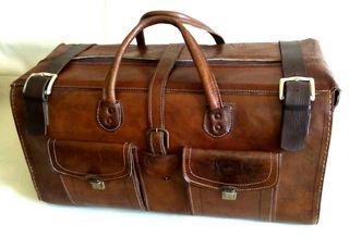 Maleta/bolso grande de viaje en piel