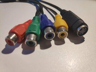 adaptador convertidor s-video macho a s-video hemb