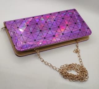 Portefeuille femme violet lumineuse