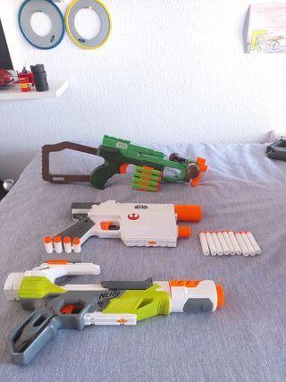 3 pistolas Nerf