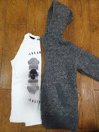sudadera + camiseta